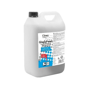 PIANKA CLINEX GLASS FOAM 5L, DO MYCIA SZYB
