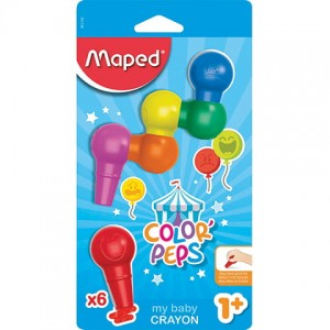 KREDKI BABY COLORPEPS EARLY AGE 6 SZT