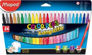 Flamastry ColorPeps Long Life 24 kolory