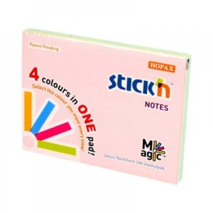 Notes samoprzylepny Magic Pads pastel 76*101mm /100 kartek